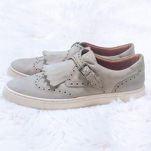 FRYE Gray Women's Gemma Kiltie Detailed Sneakers